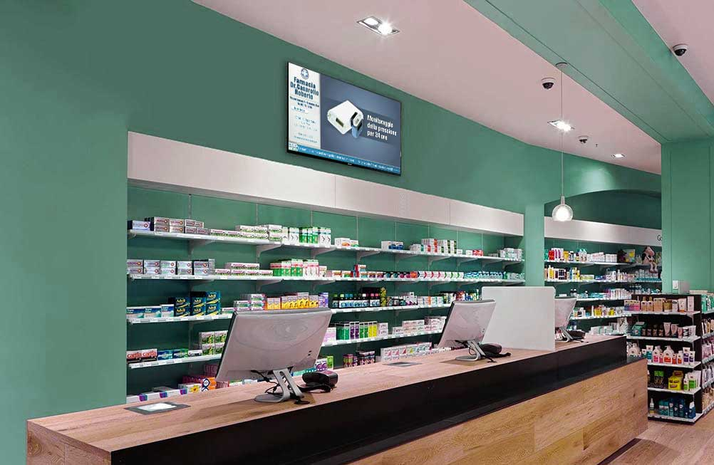 monitor digital signage farmacia