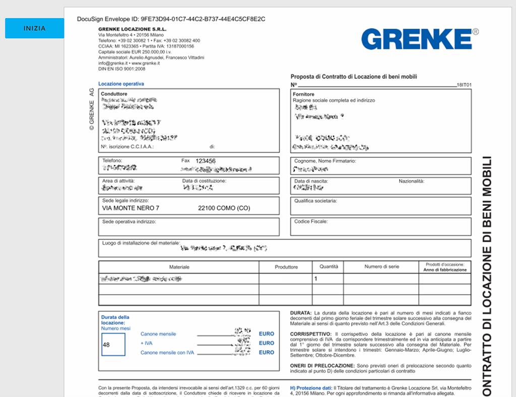 firma locazione Grenke