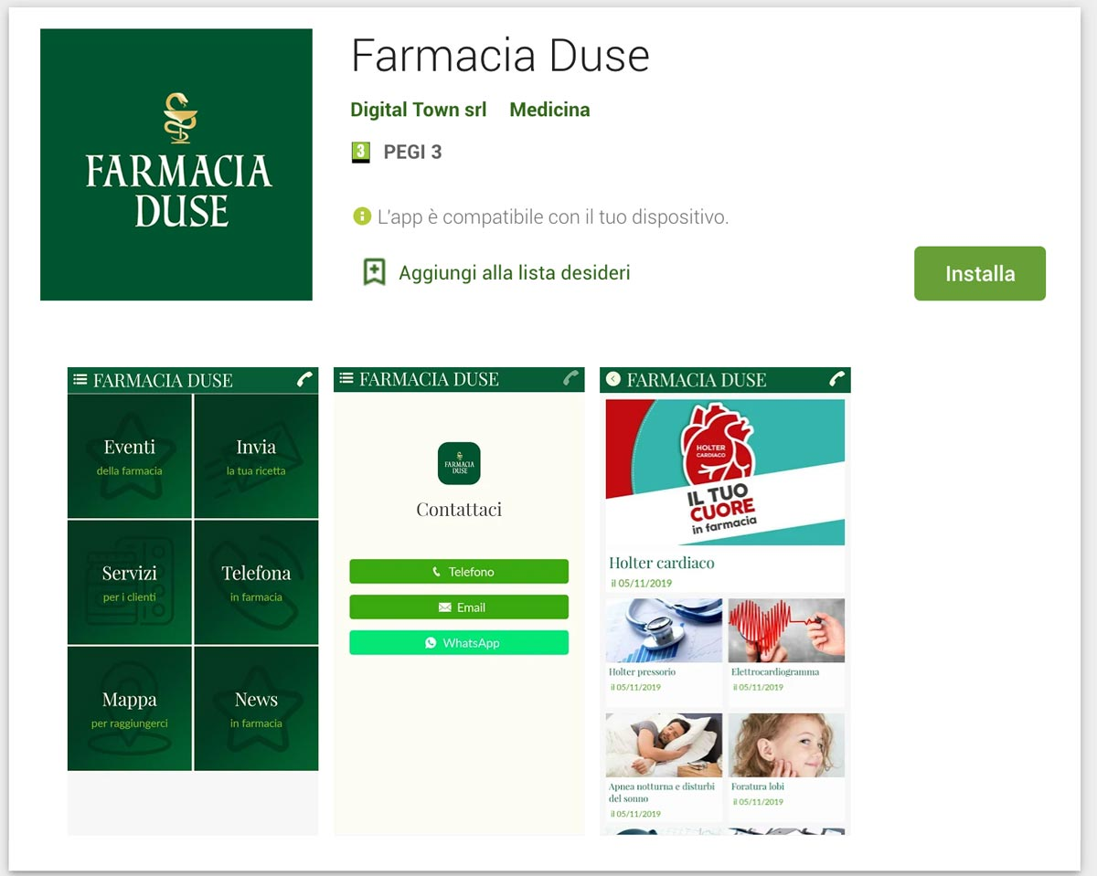 App Farmacia Duse