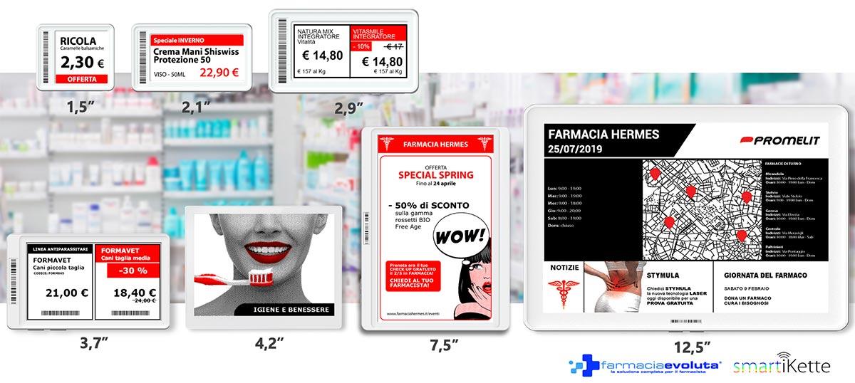 formati etichette elettroniche farmacia